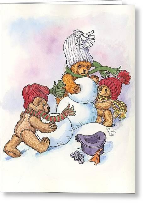 Snow Bears Greeting Card