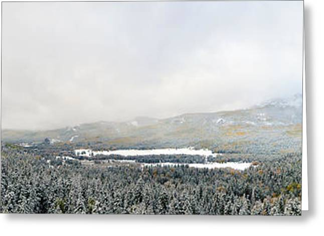 Snow Blasted Valley Greeting Card
