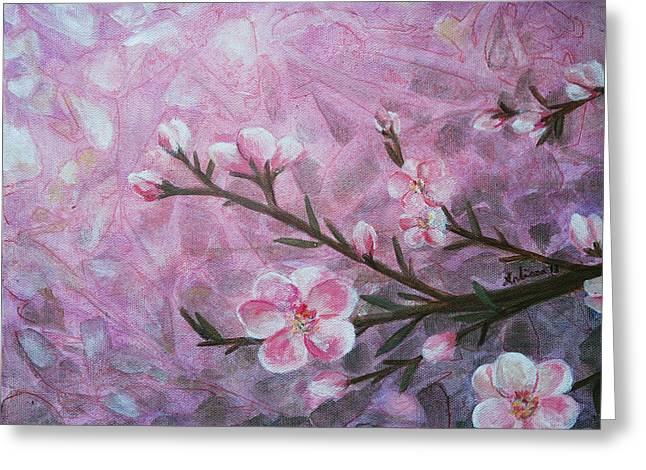 Snow Blossom Greeting Card by Arlissa Vaughn