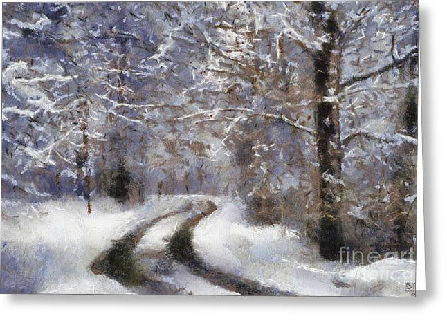 Snow Came Greeting Card