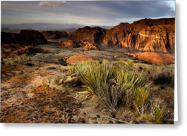 Snow Canyon Sunrise Greeting Card by Eric Foltz