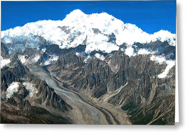 Snow Capped Canyon Greeting Card
