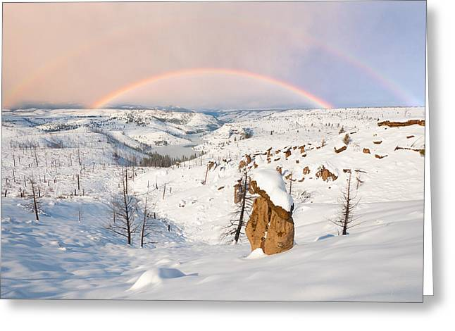 Snow Capped Hoodoo's Greeting Card