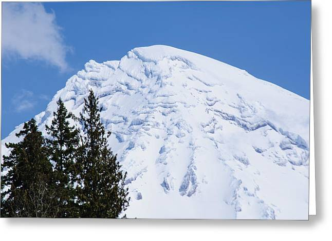 Snow Cone Mountain Top Greeting Card by Tikvah's Hope