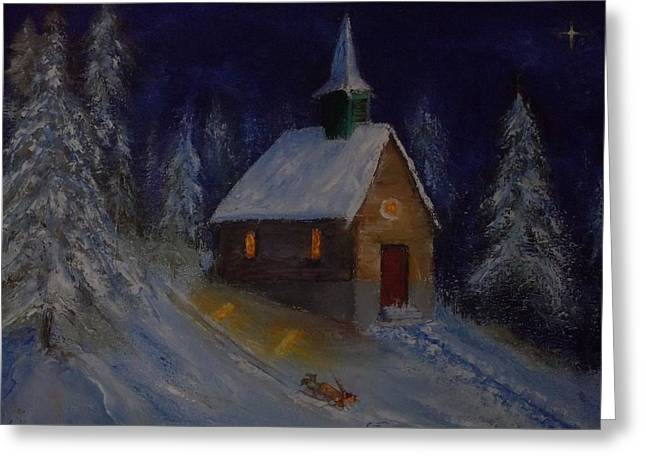 Snow Country Church Greeting Card