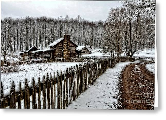 Greeting Card featuring the photograph Snow Covered by Brenda Bostic