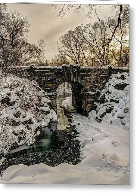 Snow-covered Glen Span Arch, Central Greeting Card