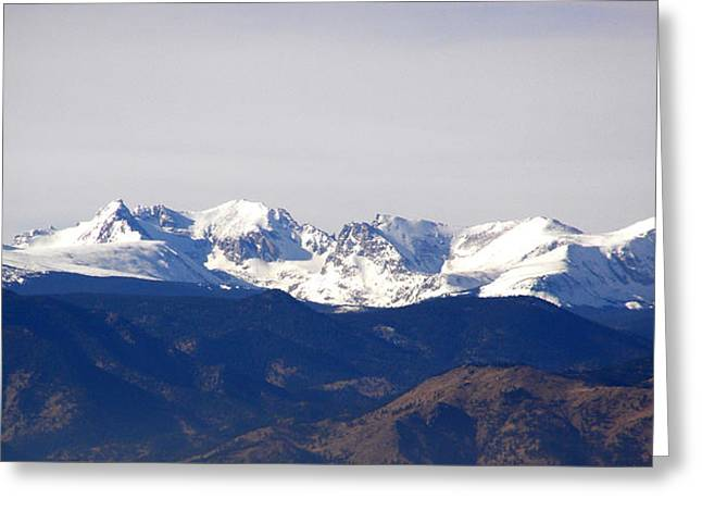 Snow Covered Indian Peaks Greeting Card