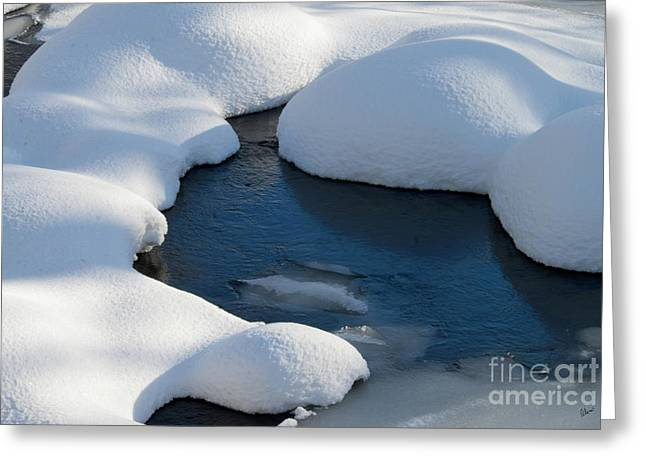 Snow Covered Rocks Greeting Card