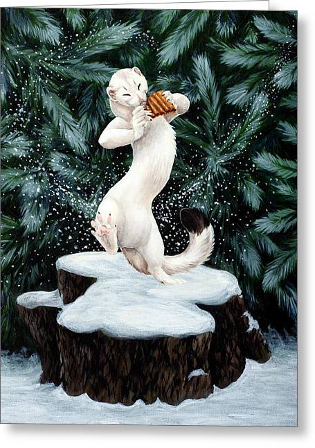 Snow Dance Greeting Card by Beth Davies