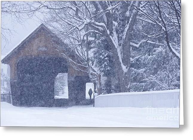 Greeting Card featuring the photograph Snow Day by Alan L Graham
