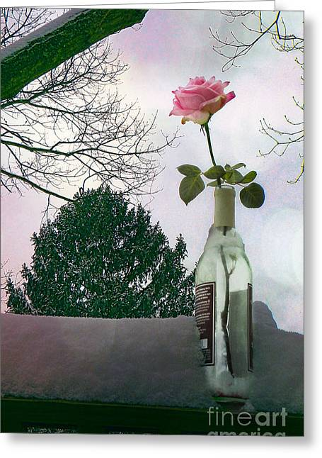 Snow Days Of Wine And Roses Greeting Card by Terry Weaver