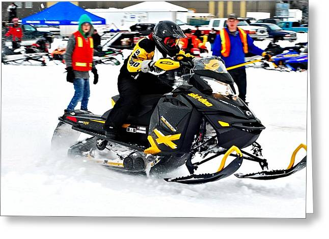 Snow Drags - 8 Greeting Card by Don Mann