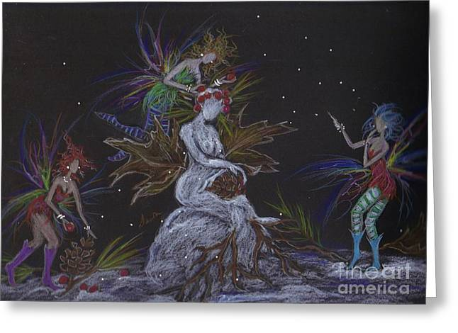 Snow Dryad Greeting Card