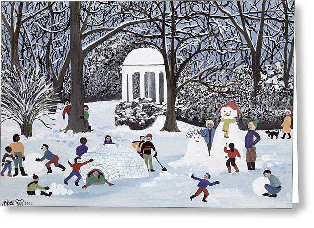 Snow Follies Greeting Card by Judy Joel
