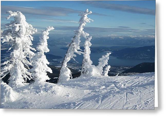 Snow Ghosts 1 Greeting Card