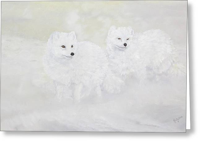 Snow Ghosts Of The North Greeting Card by Johanna Lerwick