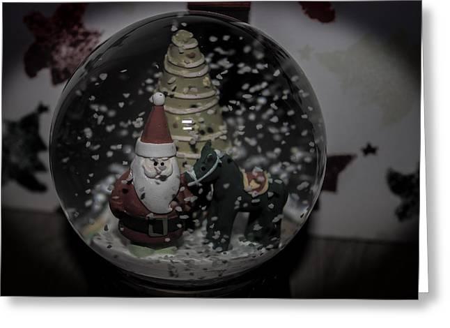 Snow Globe Greeting Card by Martin Newman