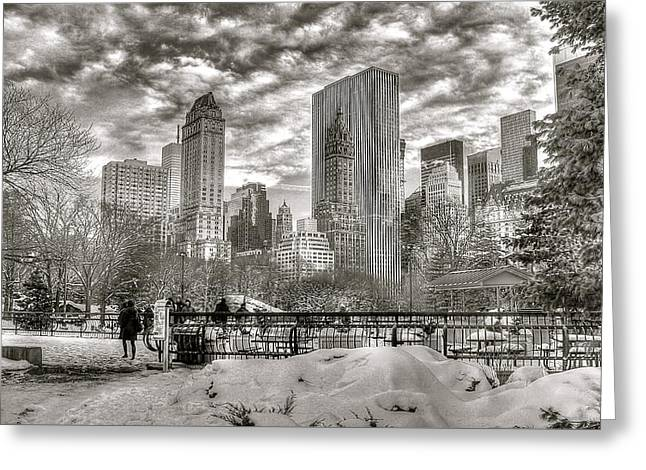 Snow In N.y. Greeting Card