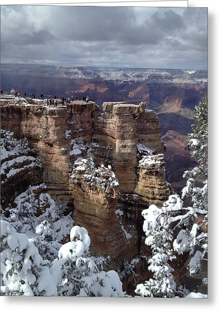 Snow In The Grand Greeting Card