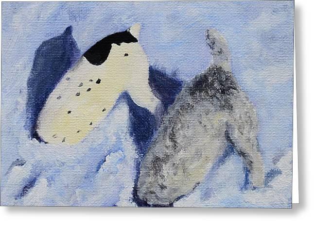 Snow Jacks Greeting Card by Linda Freed