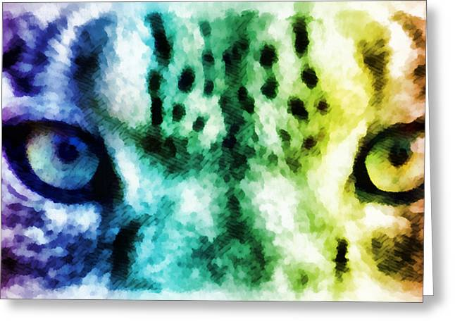 Snow Leopard Eyes 2 Greeting Card
