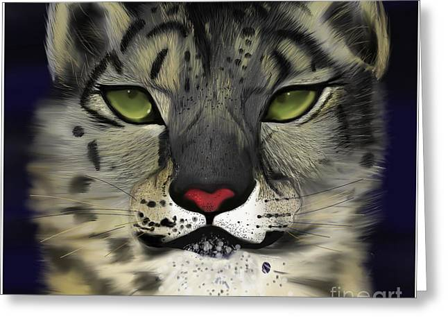 Snow Leopard - The Eyes Have It Greeting Card