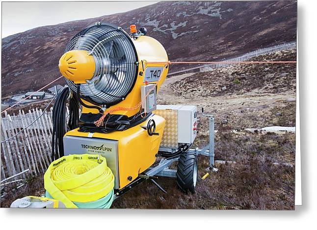 Snow Machine In The Cairngorms Greeting Card by Ashley Cooper