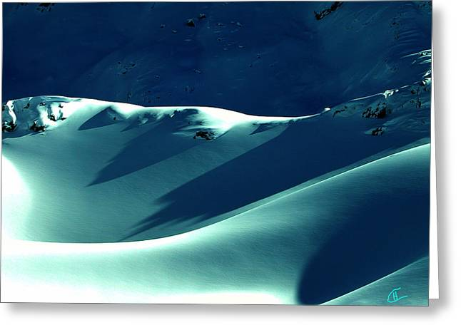 Snow Mountain In Austria  Greeting Card by Colette V Hera  Guggenheim