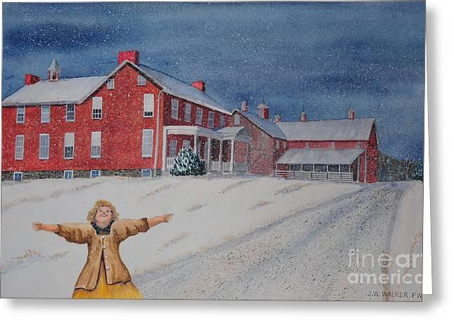 Snow On Cashtown Road Greeting Card