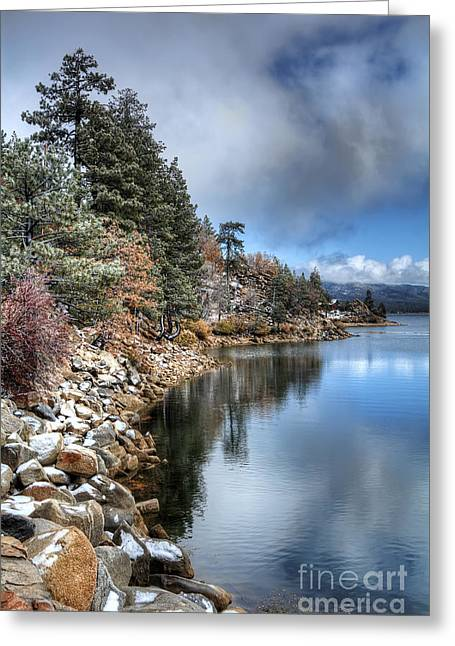 Snow On The Lake Greeting Card