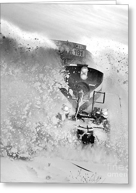 Snow On The Railway Greeting Card by Stephen Host