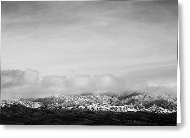 Snow On The Tehachapis Greeting Card by Rich Collins