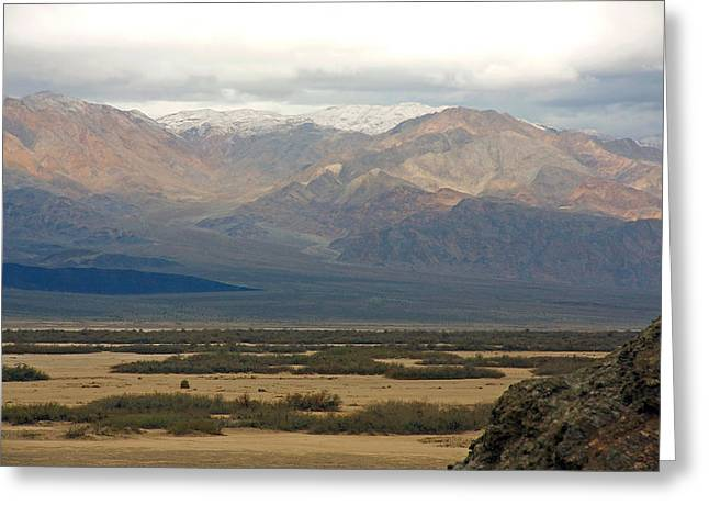 Greeting Card featuring the photograph Snow Peaks by Stuart Litoff