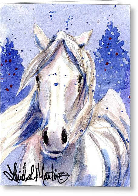 Snow Pony 2 Greeting Card