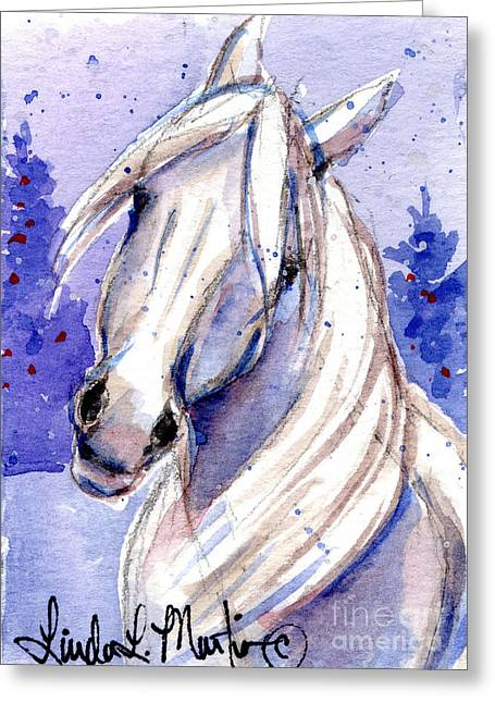 Snow Pony 3 Greeting Card