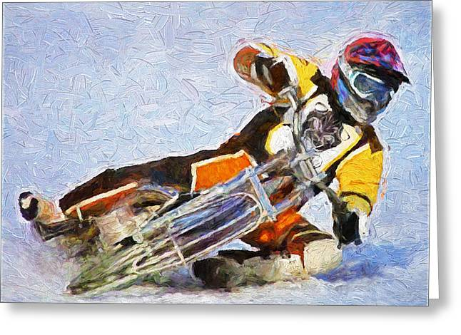 Snow Race Greeting Card