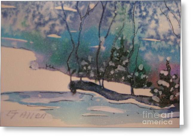 Snow Reflections Greeting Card