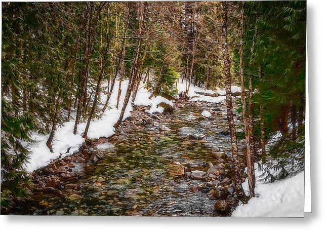 Snow River Greeting Card by Ken Stanback