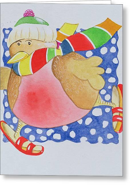 Snow Robin Greeting Card by Tony Todd