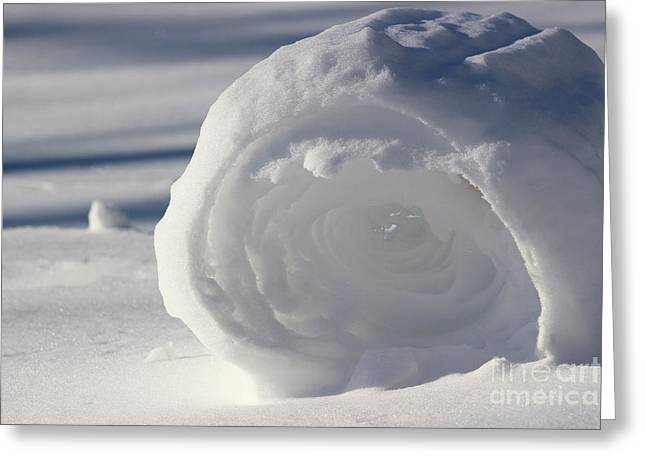 Snow Roller In Late Afternoon Greeting Card