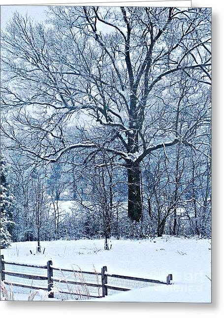 Snow Greeting Card by Sarah Loft