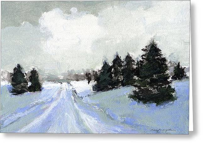 Snow Scene Greeting Card by J Reifsnyder