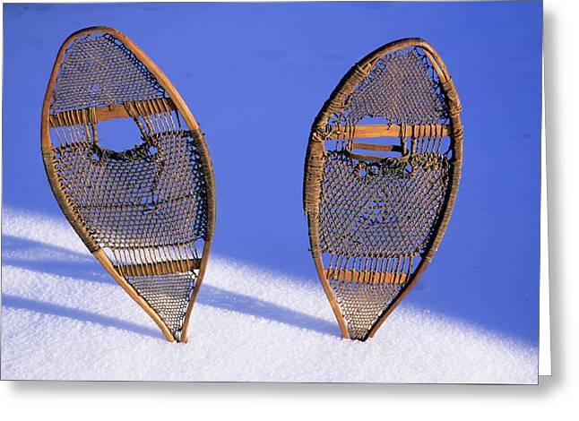 Snow Shoes Were Used By Many Tribes Greeting Card