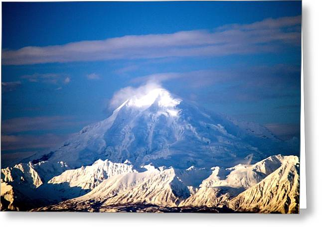 Snow Top Volcano Greeting Card