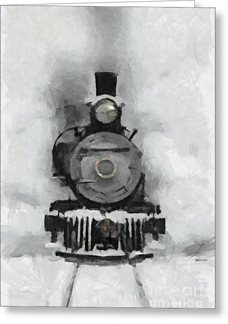 Snow Train Greeting Card