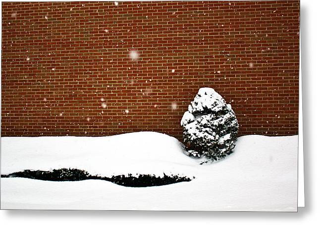Snow Wall Greeting Card