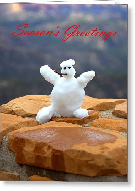Snowball Snowman Greeting Card