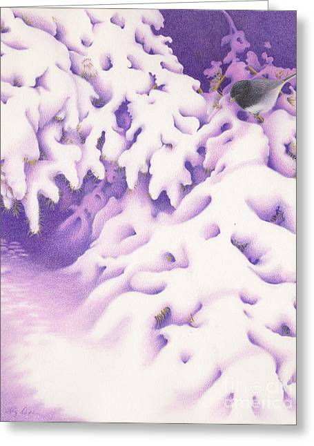 Snowbird Greeting Card by Elizabeth Dobbs