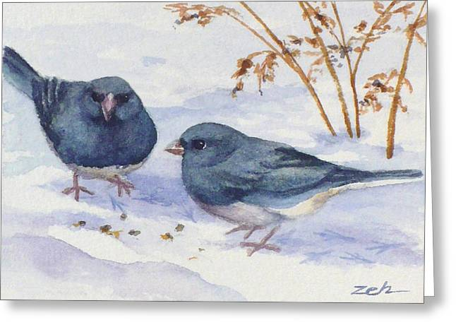 Snowbirds Greeting Card by Janet  Zeh